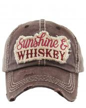 KBV1150(BR)-wholeale-cap-sunshine-whiskey-embroidered-baseball-vintage-torn-stitch-cotton-letter(0).jpg