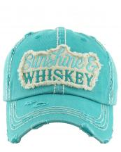 KBV1150(TQ)-wholeale-cap-sunshine-whiskey-embroidered-baseball-vintage-torn-stitch-cotton-letter(0).jpg