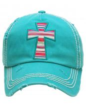 KBV1154(TQ)-wholesale-cap-cross-serape-aztec-multicolor-fabric-washed-vintage-torn-stitch-baseball-cotton-brim(0).jpg