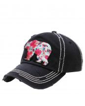 KBV1157(BK)-wholesale-cap-bear-floral-multi-color-fabric-washed-vintage-torn-stitch-baseball-cotton-brim(0).jpg
