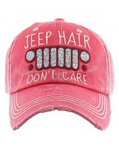 KBV1176(HPK)-wholesale-cap-jeep-hair-dont-care-logo-glitter-embroidered-baseball-vintage-torn-stitch-cotton(0).jpg
