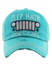 KBV1176(TQ)-wholesale-cap-jeep-hair-dont-care-logo-glitter-embroidered-baseball-vintage-torn-stitch-cotton(0).jpg