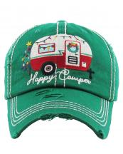 KBV1185(KGN)-wholesale-cap-baseball-christmas-happy-camper-camping-trailer-lights-wreath-tree-embroidered-vintage(0).jpg