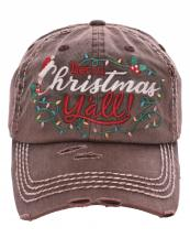 KBV1186(BR)-wholesale-cap-baseball-merry-christmas-yall-embroidered-lights-holly-berry-leaves-santa-claus-hat(0).jpg