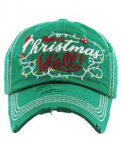 KBV1186(KGN)-wholesale-cap-baseball-merry-christmas-yall-embroidered-lights-holly-berry-leaves-santa-claus-hat(0).jpg
