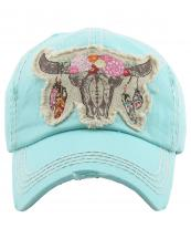KBV1193(DBL)-wholesale-cap-steer-longhorn-head-skull-floral-feather-beads-embroidery-washed-baseball-vintage-torn(0).jpg