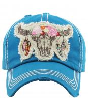 KBV1193(DTQ)-wholesale-cap-steer-longhorn-head-skull-floral-feather-beads-embroidery-washed-baseball-vintage-torn(0).jpg