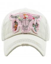 KBV1193(ST)-wholesale-cap-steer-longhorn-head-skull-floral-feather-beads-embroidery-washed-baseball-vintage-torn(0).jpg