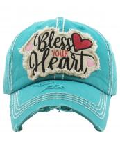 KBV1198(TQ)-wholesale-cap-bless-your-heart-embroidered-baseball-vintage-torn-stitch-cotton-hook-loop-cursive(0).jpg