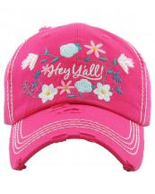 KBV1201(HPK)-wholesale-cap-hey-yall-floral-multi-color-embroidered-baseball-vintage-torn-stitch-cotton-hook-loop(0).jpg