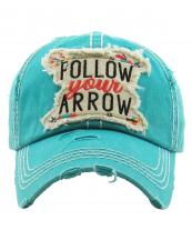 KBV1202(TQ)-wholesale-cap-follow-your-arrow-feather-multi-color-embroidered-baseball-vintage-torn-stitch-cotton(0).jpg