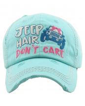 KBV1209(DBL)-wholesale-cap-hair-donot-care-jeep-car-ribbon-bow-embroidered-baseball-vintage-tone-cotton-stitch(0).jpg