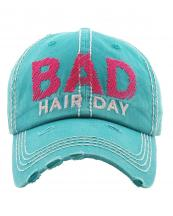 KBV1210(TQ)-wholesale-cap-bad-hair-day-embroidered-baseball-vintage-tone-cotton-stitch-outline-hook-loop-closure(0).jpg