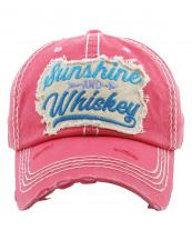 KBV1234(HPK)-wholesale-cap-sunshine-and-whiskey-arrow-embroidered-multicolor-vintage-tone-stitch-baseball-cotton(0).jpg