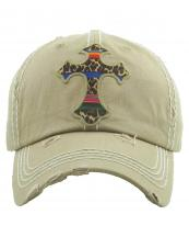 KBV1253(KHA)-wholesale-cap-cross-serape-leopard-pattern-stripe-embroidered-baseball-vintage-torn-cotton-brim(0).jpg