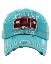 KBV1257(TQ)-wholesale-cap-camping-hair-donot-care-camp-trailer-checkered-pattern-embroidered-baseball-cotton(0).jpg