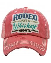KBV1265(HPK)-wholesale-cap-rodeo-days-whiskey-nights-embroidered-floral-multicolor-baseball-vintage-torn-cotton(0).jpg