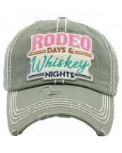 KBV1265(MOS)-wholesale-cap-rodeo-days-whiskey-nights-embroidered-floral-multicolor-baseball-vintage-torn-cotton(0).jpg