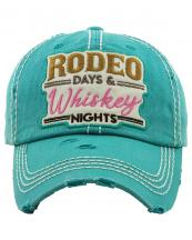 KBV1265(TQ)-wholesale-cap-rodeo-days-whiskey-nights-embroidered-floral-multicolor-baseball-vintage-torn-cotton(0).jpg