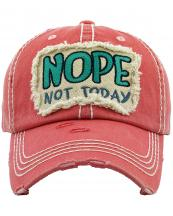 KBV1286(HPK)-W04-wholesale-baseball-cap-nope-not-today-embroidered-vintage-torn-stitch-cotton-velcro-size-adjustable(0).jpg
