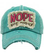 KBV1286(TQ)-W04-wholesale-baseball-cap-nope-not-today-embroidered-vintage-torn-stitch-cotton-velcro-size-adjustable(0).jpg