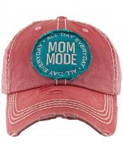 KBV1297(HPK)-wholesale-baseball-cap-mom-mode-embroidered-vintage-torn-stitch-cotton-velcro-size-adjustable(0).jpg