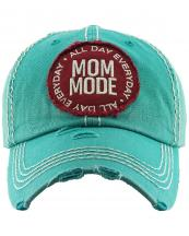 KBV1297(TQ)-wholesale-baseball-cap-mom-mode-embroidered-vintage-torn-stitch-cotton-velcro-size-adjustable(0).jpg
