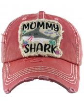 KBV1305(HPK)-wholesale-mommy-shark-vintage-baseball-cap-shark-embroidered-cotton(0).jpg