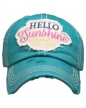 KBV1358(TUQ)-wholesale-baseball-cap-hello-sunshine-embroidered-vintage-torn-stitch-cotton-velcro-adjustable(0).jpg