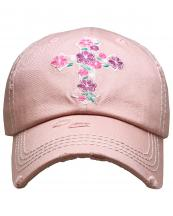 KBV1373(RO)-wholesale-baseball-cap-floral-cross-embroidered-vintage-cotton-velcro-adjustable(0).jpg