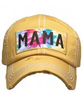 KBV1375(YL)-wholesale-baseball-cap-mama-tie-dye-embroidered-vintage-cotton-velcro-adjustable(0).jpg