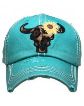 KBV1378(TQ)-wholesale-baseball-cap-leopard-steer-skull-embroidered-vintage-cotton-velcro-adjustable(0).jpg