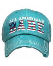 KBV1381(TQ)-wholesale-baseball-cap-american-babe-embroidered-vintage-cotton-velcro-adjustable(0).jpg