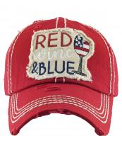 KBV1382(RD)-wholesale-baseball-cap-red-wine-blue-embroidered-vintage-cotton-velcro-adjustable(0).jpg