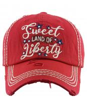KBV1383(RD)-wholesale-baseball-cap-sweet-land-of-liberty-embroidered-vintage-cotton-velcro-adjustable(0).jpg