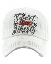 KBV1383(WT)-wholesale-baseball-cap-sweet-land-of-liberty-embroidered-vintage-cotton-velcro-adjustable(0).jpg