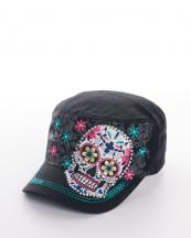 KBV970(BK)-wholesale-rhinestones-cross-cap-embroidered-sugar-skull-premium-cadet-floral-flower-(0).jpg