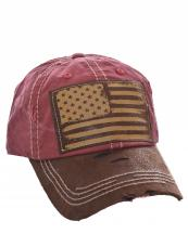 KBVT1042(MR)-W12-wholesale-baseball-cap-american-flag-usa-stars-striped-leatherette-vintage-torn-stitched-cotton-hat-(0).jpg