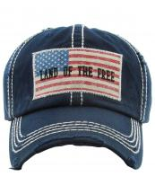 KBVT226(NV)-wholesale-cap-baseball-flag-land-of-the-free-embroidered-leatherette-brim(0).jpg