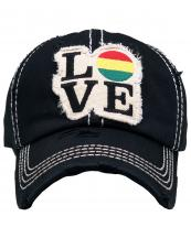 KBVT238(BK)-wholesale-cap-love-rasta-baseball-embroidered-cotton-solid-color-usa-stars-striped-vintage-torn(0).jpg