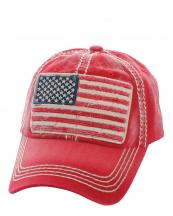 KBVT568(RD)-W07-wholesale-baseball-cap-american-flag-vintage-stitched-cotton-embroidery-stars-striped-us-torn-denim-(0).jpg