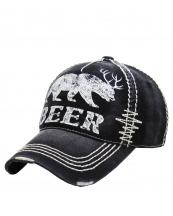 KBVT588(BK)-wholesale-baseball-cap-beer-bear-antler-printed-vintage-torn-stitch-cotton-size-adjustable(0).jpg