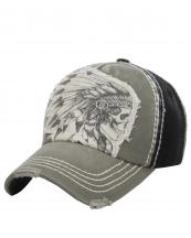 KBVT597(BKOV)-W06-wholesale-baseball-cap-skull-indian-feather-headdress-two-tone-vintage-torn-stitched-cotton-(0).jpg