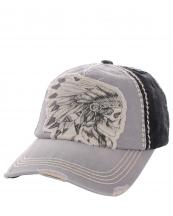 KBVT597(LGYBK)-wholesale-baseball-cap-skull-indian-feather-headdress-two-tone-vintage-torn-stitched-cotton-(0).jpg