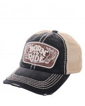 KBVT616(BK)-wholesale-baseball-cap-mesh-trucker-embroidered-born-to-ride-wings-stitched-torn-cotton-polyester-(0).jpg