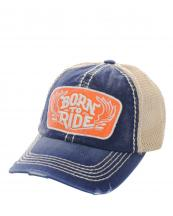 KBVT616(NV)-wholesale-baseball-cap-mesh-trucker-embroidered-born-to-ride-wings-stitched-torn-cotton-polyester-(0).jpg