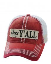 KBVT618(MABG)-W95-wholesale-baseball-cap-mesh-trucker-embroidered-her-y-all-striped-stitched-torn-cotton-polyester-(0).jpg