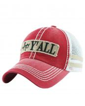 KBVT618(RDKHA)-W91-wholesale-baseball-cap-mesh-trucker-embroidered-hey-y-all-striped-stitched-torn-cotton-polyester-(0).jpg