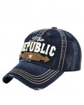 KBVT639(NV)-wholesale-baseball-cap-the-republic-star-arrow-vintage-torn-embroidered-cotton-size-adjustable(0).jpg