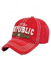 KBVT639(RD)-wholesale-baseball-cap-the-republic-star-arrow-vintage-torn-embroidered-cotton-size-adjustable(0).jpg
